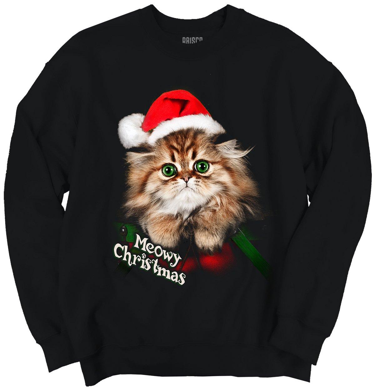 Classic Teaze Meowy Christmas Shirt | Cute Cat Funny Kitten Gift Idea Santa Sweatshirt
