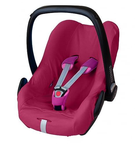 ByBoom® - Universal Sommerbezug, Schonbezug aus 100% Baumwolle, für Babyschale, Autositz, z.B. Maxi Cosi CabrioFix, City, Peb