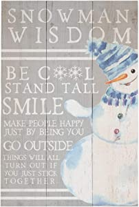 "Simply Said, INC Rustic Pallets 10.75""x16"" Wood Sign RUS1277 - Snowman Wisdom"