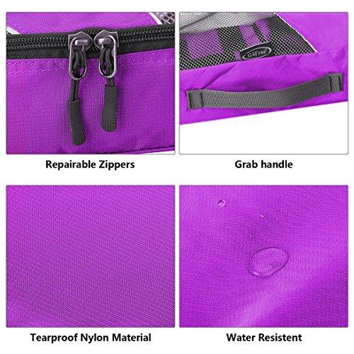 Protecteur Avec Les violet C Bagages 4pcs Organisateur Emballage Cubes Voyage Pour G4free wp8qRO6x8