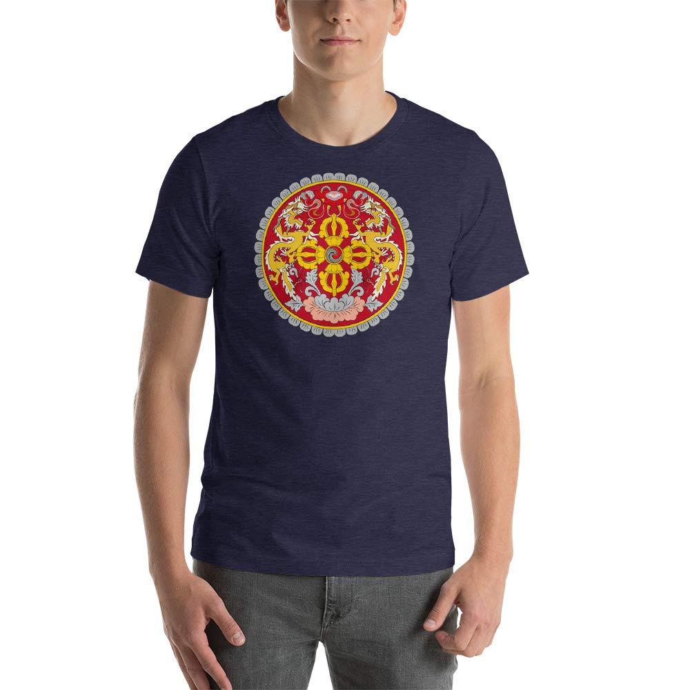 Carpe Diem Designs Coat of Arms of Bhutan Short-Sleeve Unisex T-Shirt