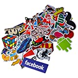 Funny Sticker Pack, Auto-Partner 100 PCS Waterproof Vinyl Decals for Laptop, Skateboard, Luggage, Car, Bumper, Bike and Water Bottles