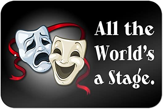 Amazon Com All The World S A Stage Comedy Tragedy Drama Masks Acting Theatre Theater 9 X 6 Metal Sign Office Products See more ideas about drama masks, theatre masks, comedy and tragedy. all the world s a stage comedy tragedy drama masks acting theatre theater 9 x 6 metal sign