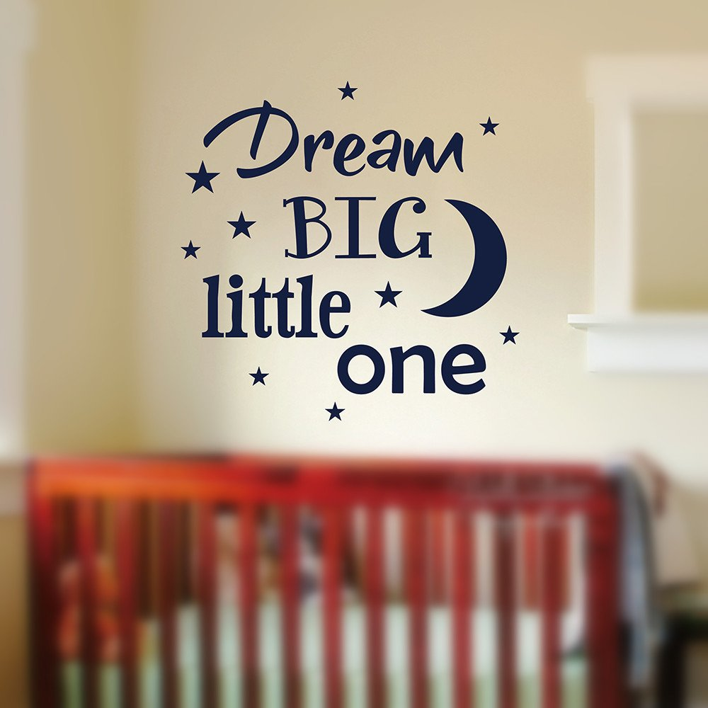 Wall Sticker Mural Decal Quote Dream Big Little One Baby Nursery Kids Room