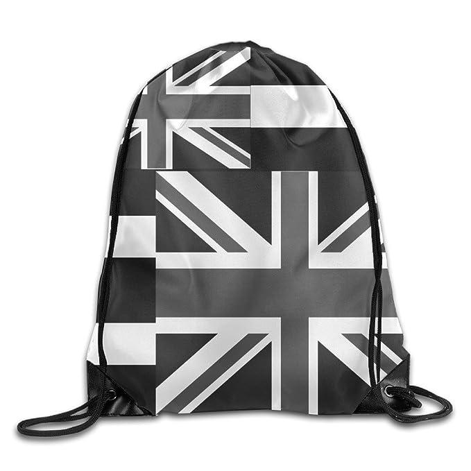 Kathleen Reino Unido flag-black y blanco Impreso fresco cara sonriente emoticono suave Casual mochila