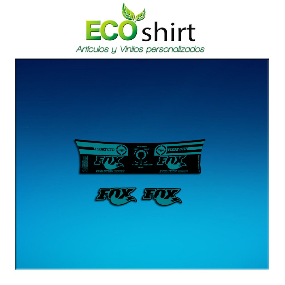 Ecoshirt AM197 Shock Fox Float CTD Evolution Series Stickers pour amortisseur de v/élos