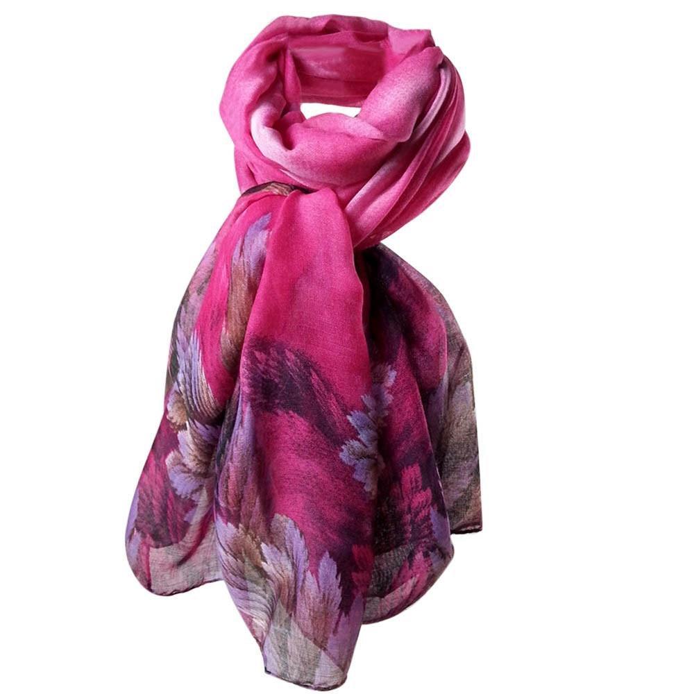 HUHU833 Écharpes châle foulards Femmes mode impression longue écharpe châle  Automne Hiver 66d53d84452