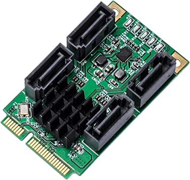 JMT PCI-E PCI Express to 6 Ports SATA3.0 SATA 3 III 6Gbps Controller Expansion Card Adapter w Low Profile Bracket for SSD HDD IPFS
