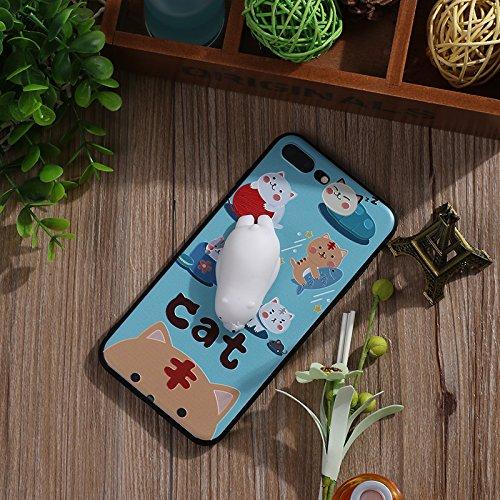 Pinzhi Cute Cartoon Phone Case für das iPhone 7 Plus, iPhone7s plus 3D Cute Soft Silikon Pappy Squishy Polar Bear Modell
