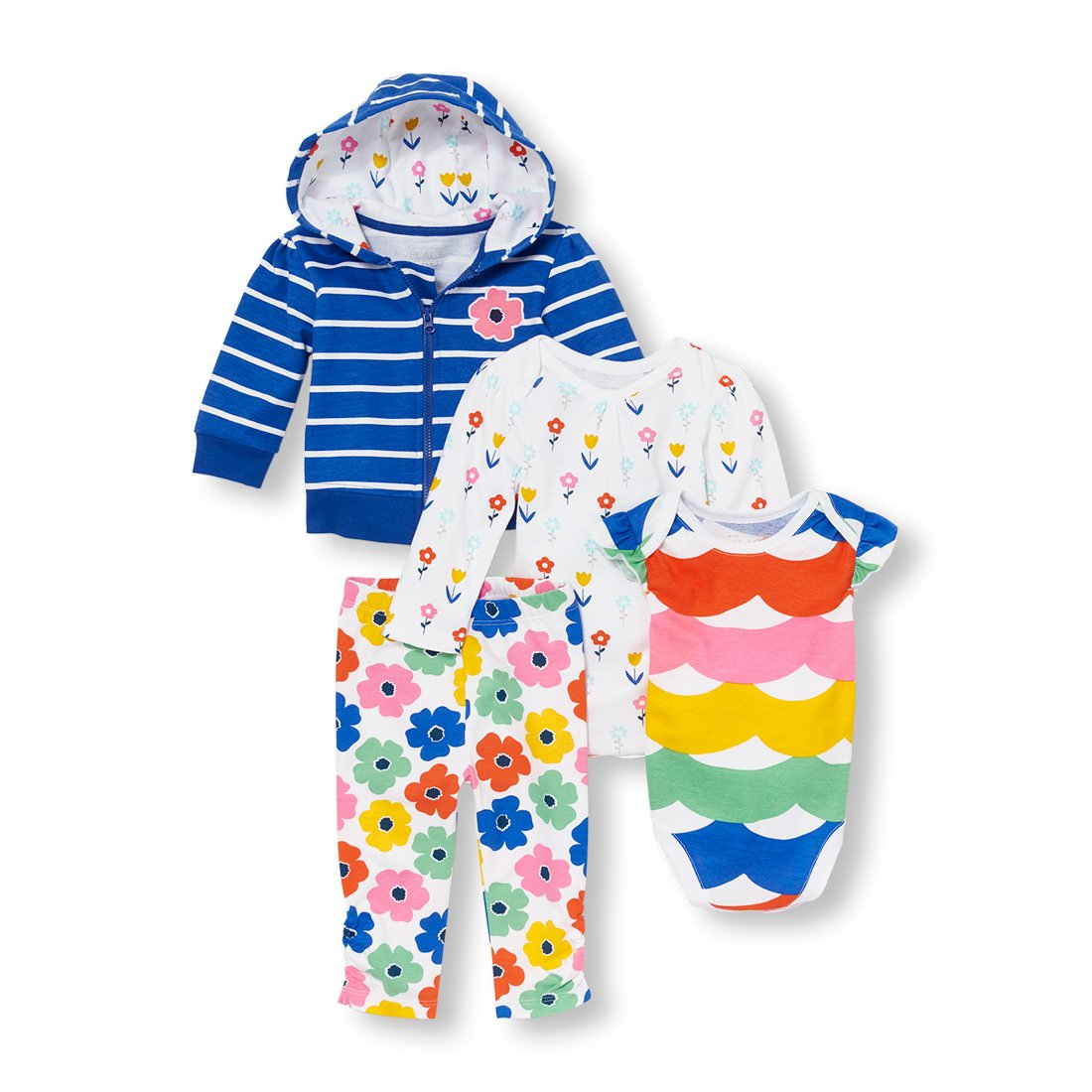 The Childrens Place Baby Girls Playwear Bundle