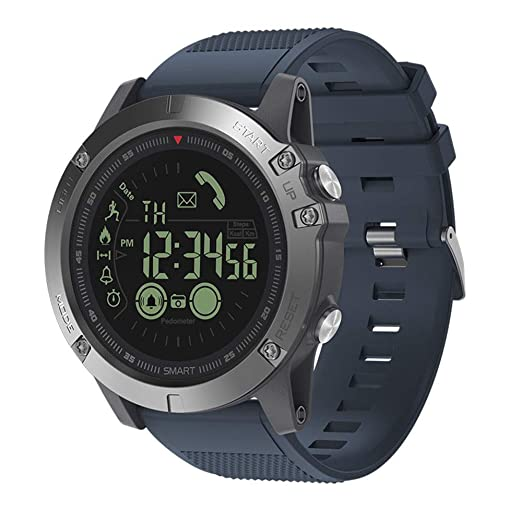 227a9b8f23 T1 Tact Smart Watches, Military Grade Super Tough SportWatch Bluetooth  Trackers Smart Watch with Pedometer for Men Women Compatible with Android  iOS Phones