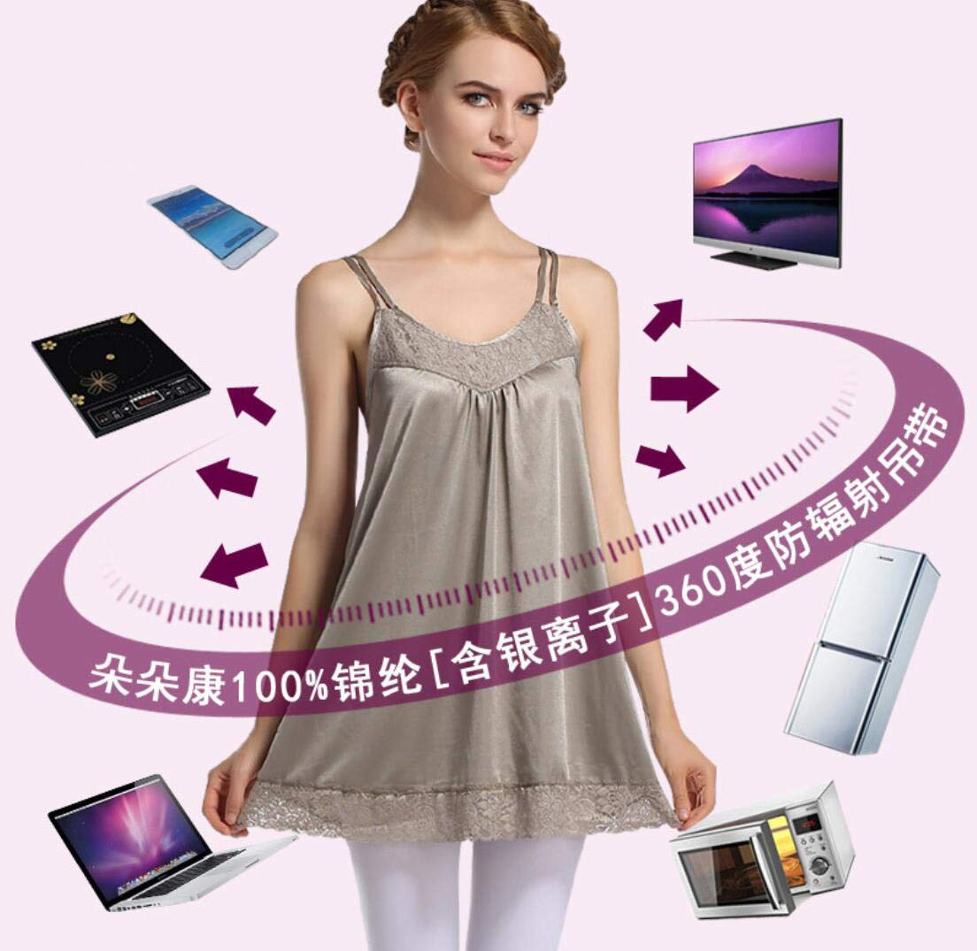 JXJ Anti-radiation maternity dress,360/° Shielding Radiation,100/% Silver Fiber Cotton Material Shielding Radiation From Computers and Household Appliances,M