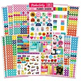 Mirida Planner Stickers for Journaling, Agenda, and Calendar, for Adults. Productivity Set of 12 Sheets - 1700 Mini Icons, Work, Holiday, and Monthly Tabs
