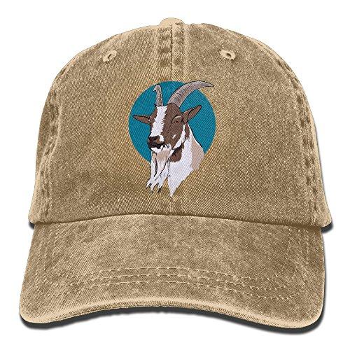 Goat Hat (Goat Baseball Hat Men And Women Summer Sun Hat Travel Sunscreen Cap Fishing Outdoors)