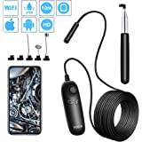 PiAEK Inspection Camera HD 1200P Usb Endoscope Camera 10M Handheld Semi-rigid Cable Waterproof Endoscope Support for iOS Android Smartphone Tablet