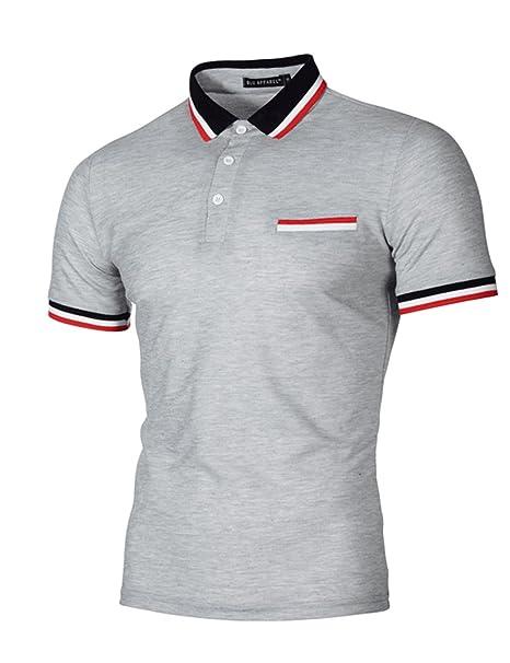 SOMTHRON Hombre Camisas de Polo de Manga Corta de Algodón Más el Tamaño de  Manga Delgada Camisas de Golf y Tenis Informal Camisa de Rugby de Verano  Ropa ... 94ea9c1355e1e