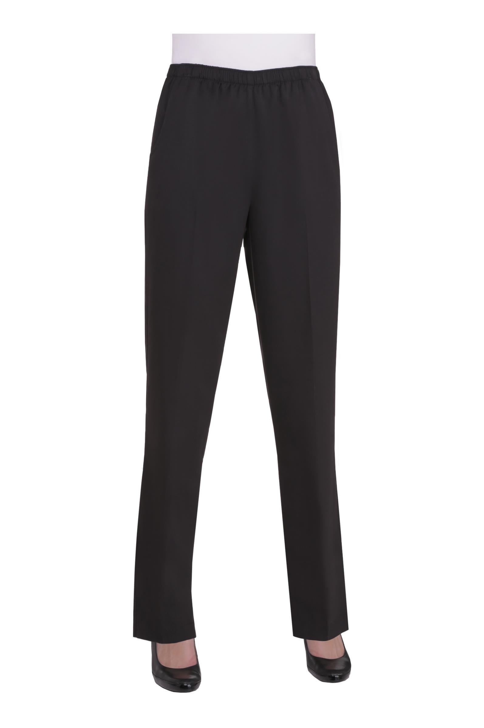 Alia Nygard Women's Petite Microfiber Twill Pull-On Pant