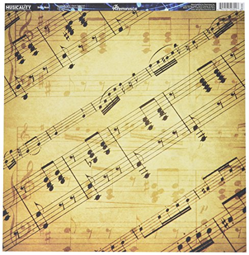 Stock Package - Reminisce MUS-002 25 Sheet Music Musicality Double-Sided Cardstock, 12