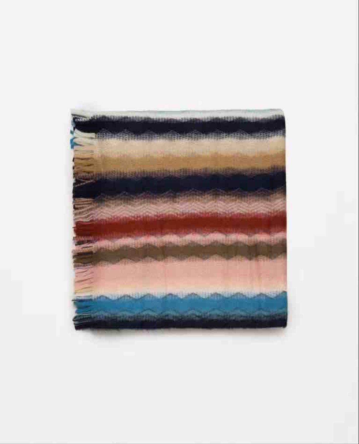 ZHANGYUQI Rayas De Colores De Otoño E Invierno Cálido Bufanda Gruesa Mantón Multifuncional,ColorBar