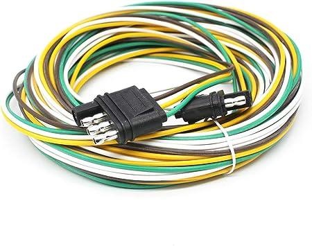 "Car Truck RV 18 Gauge 4 Pin Towing 12/"" SAE Waterproof Trailer Wire Harness"