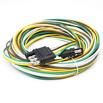 Amazon.com: X-Haiei Trailer Wiring Harness 4 Way Flat 25 ... on
