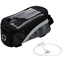 Premium Black Bike Bicycle Handlebar Frame Pannier Front Top Tube Bag Pack Pouch for iPhone 7 Plus / 6S Plus / Samsung Galaxy S8 / S7 Edge / A5 J3 J5 / LG G6 / G5 / LG K4 K8 / LG X Cam / Motorola Moto G4 G5 Plus / E 4G