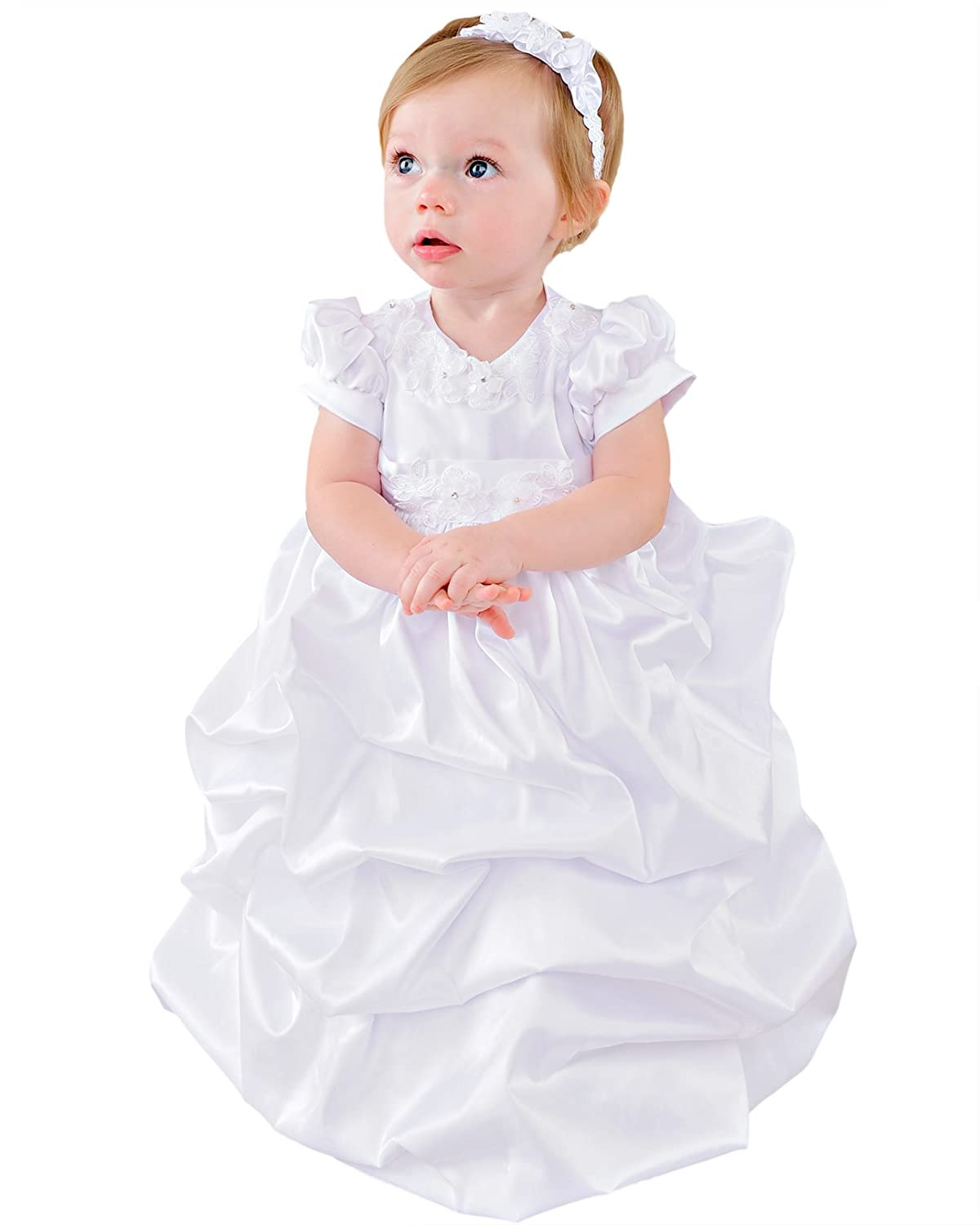 Eleanor 9 Month Girls Christening Gown, Made in USA One Small Child 3087
