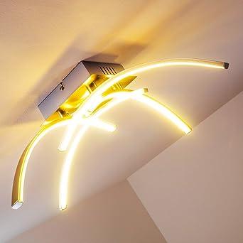 Elegante Deckenlampe Mit Leucht Armen Und LED Lichtleisten Designer Lampe Warmweissem