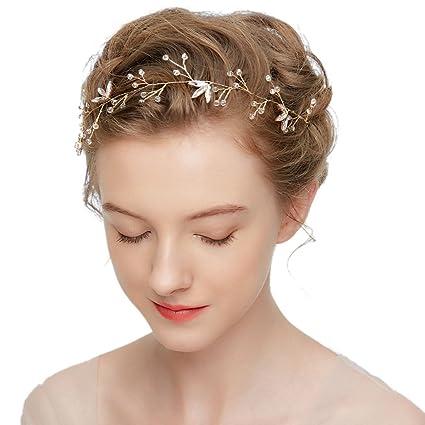 31f8525a Ladies Hair Accessories Bridal Wedding Hair Crest Rhinestone Wedding Crown  Bridal Tiara Rhinestone Pearls Hairband Wedding