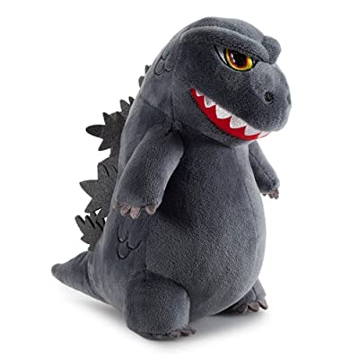 Godzilla Plush Super Cute 7 inches Tall Phunny Plush Dinosaur Dragon Monster Plush Toys Stuffed Animal Birthday Xmas Kid Gift Grey: Clothing