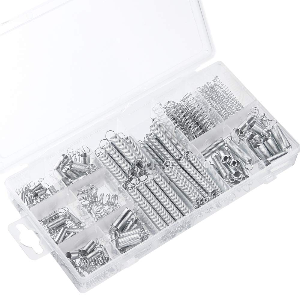 TUPARKA 200 Pack Federn Verschiedene kleine Verlä ngerungs- und Druckfedern mit Aufbewahrungsbox