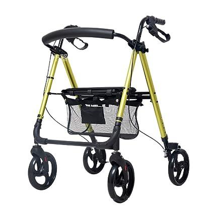 Andador de cuatro ruedas Andador de altura regulable Plegable de ...