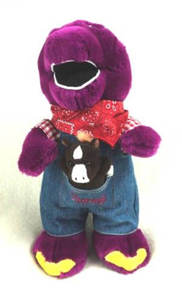 Barney the Dinosaur Farmer Barney Plush Nicexx