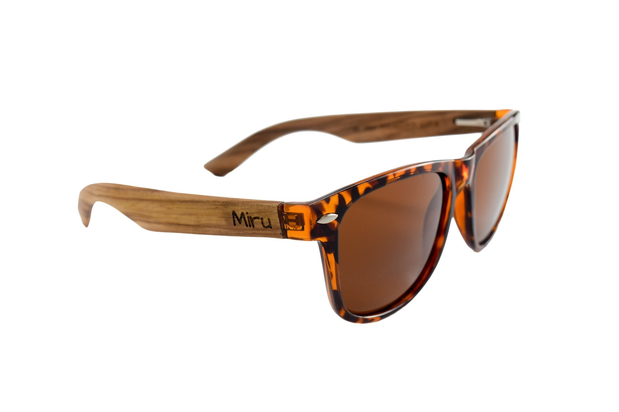 Zebra Wood Sunglasses with Tortoise Shell Frames