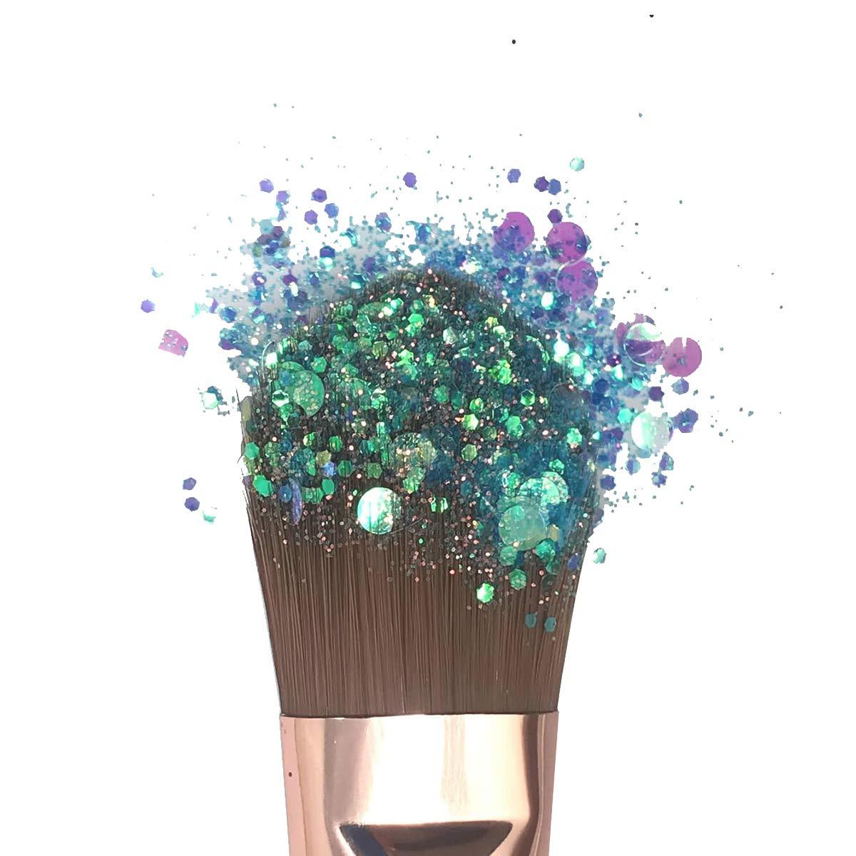 fai da te polvere glitterata di grandi dimensioni per progetti d/'arte fiori trucco viso//occhi//corpo regali unghie rosa chiaro decorazioni biglietti capelli matrimoni Hemway 1L // 500g