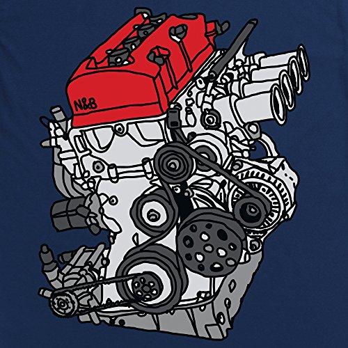 Nut & Bolt - F20C Engine Camiseta, Para mujer Azul marino