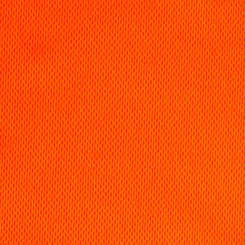 Textile Creations Athletic Mesh Knit Neon Orange Fabric by The ()