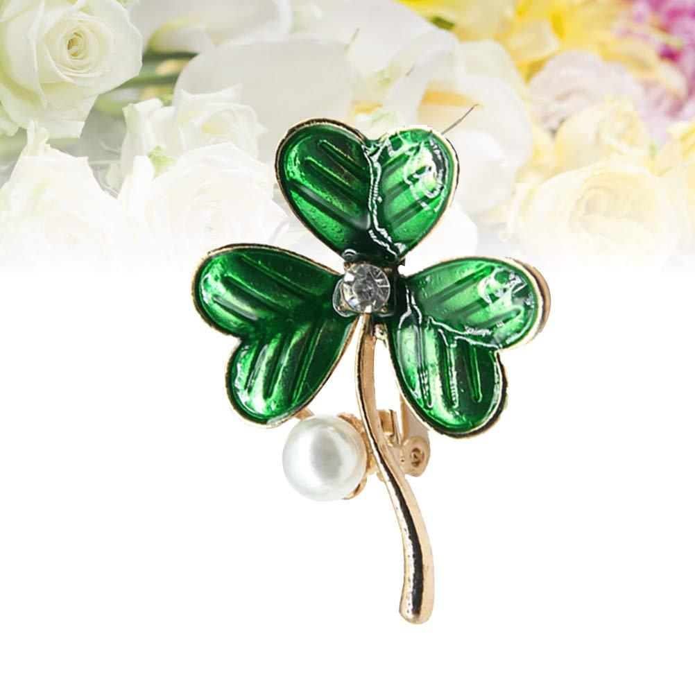 Amosfun Shamrock du Jour de la Saint Patrick Broche /épingle Le Jour de la Saint Patrick des Bijoux Irlandais Cadeaux Cadeaux favorise Les Fournitures