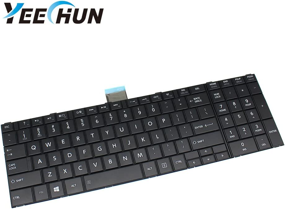 YEECHUN New Replacement Keyboard for Toshiba Satellite C55-A5105 C55-A5180 C55-A5249 C55T-A C55-A5302 C55-A5308 Series Notebook Accessories