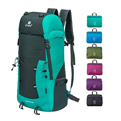 29e7f207a9 Coreal 40L Lightweight Packable Hiking Backpack Foldable Travel Trekking  Daypack Lake Blue