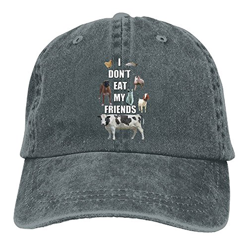I Don't Eat My Friends Animal Denim Hat Adjustable Mens Casual Baseball (Tumblr Best Friend Costumes)