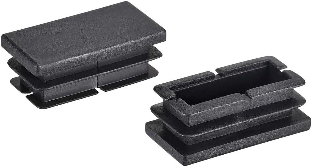 uxcell 40mm x 20mm Rectangle PP End Cap Desk Chair Furniture Leg Foot Cover Insert Black 50 Pcs