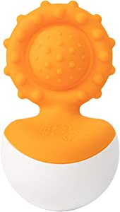 Fat Brain Toys Dimpl Wobbl - Orange Baby Toys & Gifts for Ages 0 to 1
