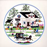 Dimensions CAPE COD AFTERNOON Crewel Embroidery Kit #1394 by Artist Charles Wysocki. Vintage Vtg 1991 Retired / Discontinued by Manufacturer