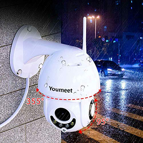 Youmeet WiFi Security Camera,CCTV Camera – 1080P Wireless Dome Camera,Waterproof Home Surveillance Camera,2 Way Talk, Night Vision Motion Detection,for Backyard/Office/Shop/School/Hospital/Warehouse