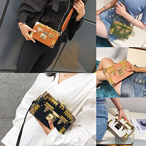 Sac Main à Vert Sacs bandoulière Lock Fashion à Bag Small Junlinto Case Green Crossbody Messenger Women Box CXazqIPw