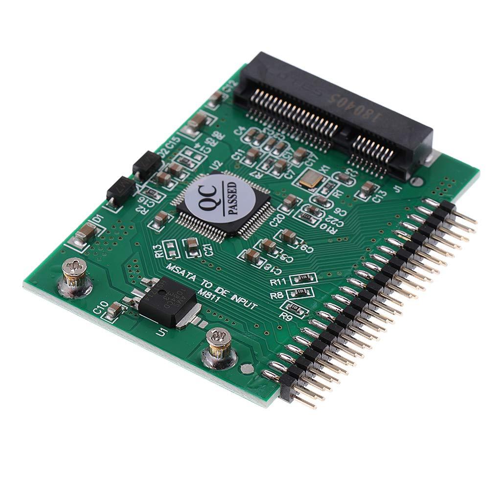 D DOLITY 2 Unidades mSATA SSD a 44Pin IDE Tarjeta de Adaptador 2.5 /´/´ Conector para Port/átil Mano de Obra Exquisita Industria Ciencia Creativo