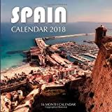 Spain Calendar 2018: 16 Month Calendar