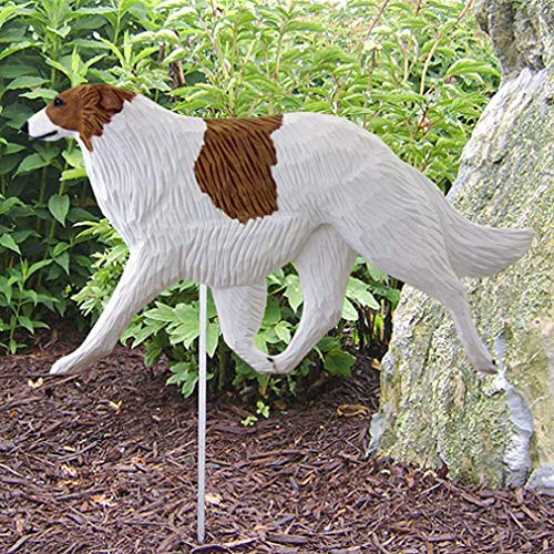 Ky & Co YesKela Borzoi Outdoor Garden Sign Hand Painted Figure Bi