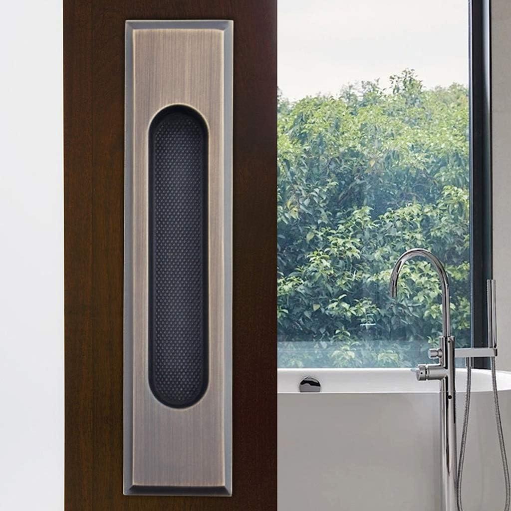 Manijas de Puertas correderas Ocultas Manija empotrada de Cobre Puro Empuñadura del cajón Manija empotrada for Dedo Negro Manija Oculta 185 mm x 43 mm (Color : Negro): Amazon.es: Hogar